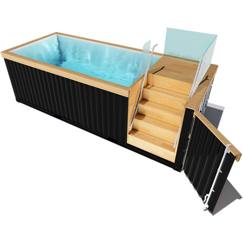 projet 2018 le container piscine kaseo. Black Bedroom Furniture Sets. Home Design Ideas