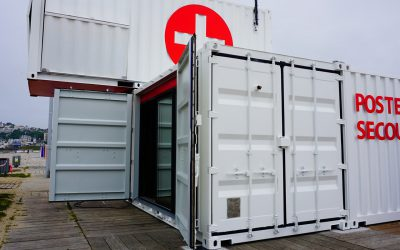 POSTE DE SECOURS, transformation container