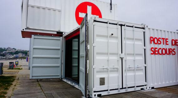 POSTE DE SECOURS, transformation container