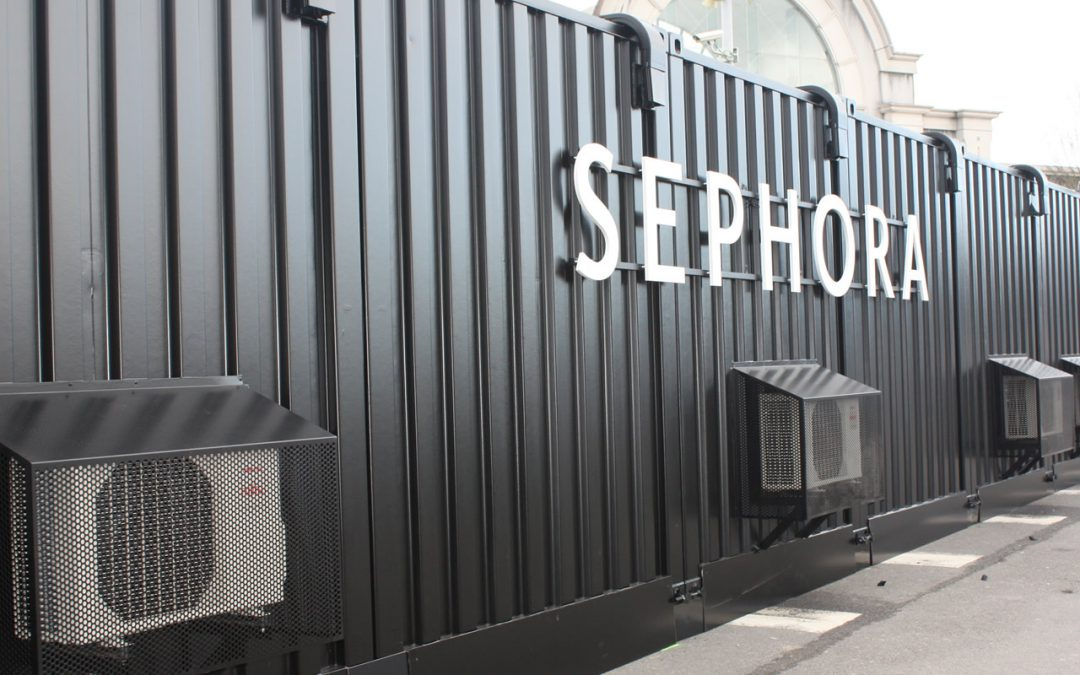 Sephora boutique ph m re transformation container kaseo for Agencement container