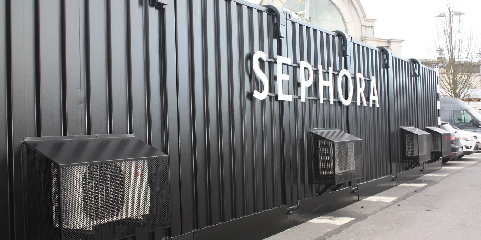 SEPHORA, boutique éphémère transformation container