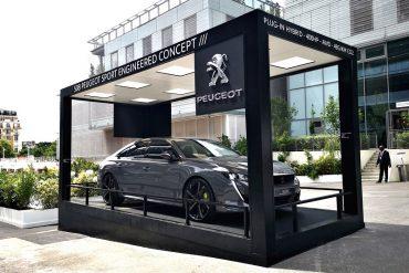 Container stand Peugeot à Roland Garros