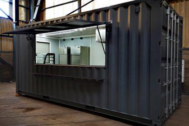 Transformation de container pour restaurant