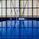 Gros plan de la piscine container Dieuzy